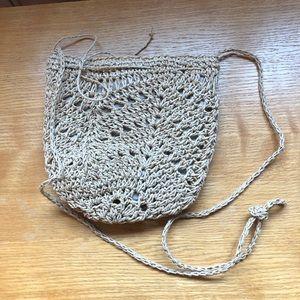Small J Jill crossbody straw bag